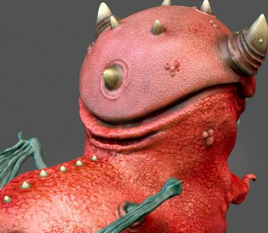 Demon 3D character detail